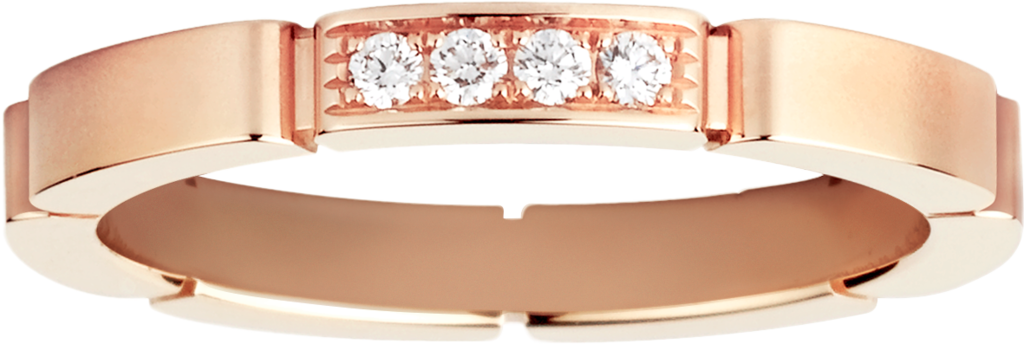 Maillon Panthère wedding bandPink gold, diamonds