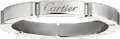Maillon Panthère wedding band White gold