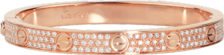 <span class='lovefont'>A </span> bracelet, diamond-paved Pink gold, diamonds