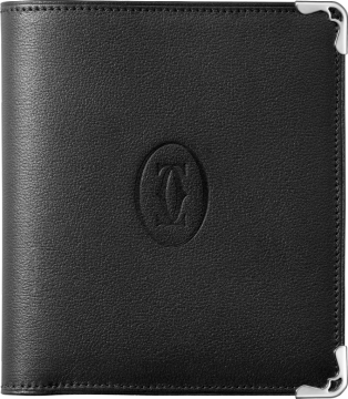 Multiple Wallet, Must de Cartier Black calfskin, stainless steel finish
