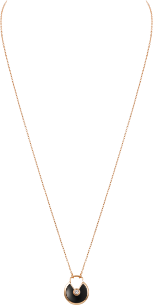 Amulette de Cartier necklace, small model Pink gold, onyx, diamond