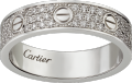 <span class='lovefont'>A </span> wedding band, diamond-paved White gold, diamonds