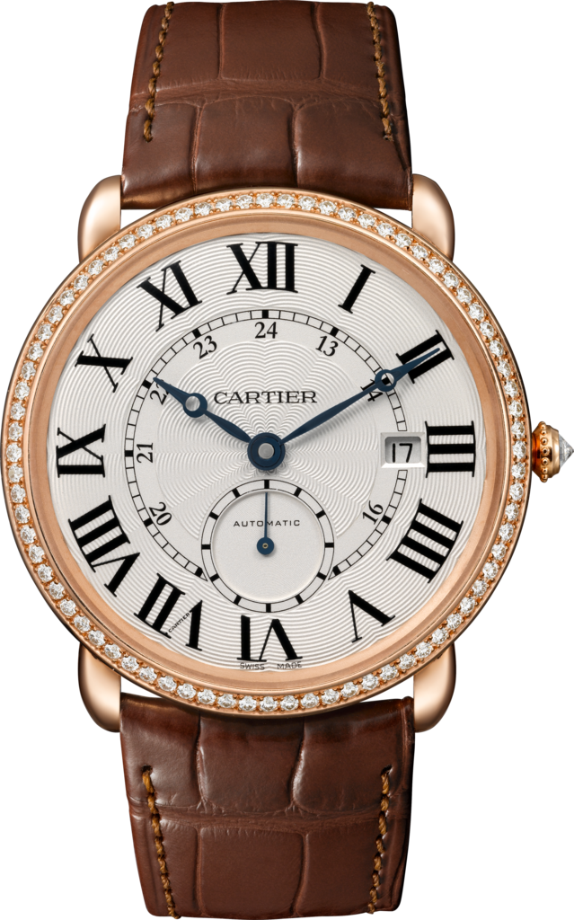 Ronde Louis Cartier watch40 mm, 18K pink gold, diamonds