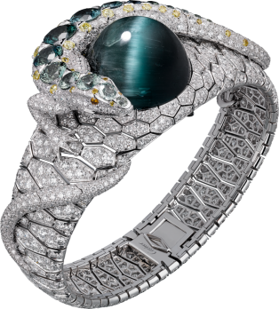 High Jewelry bracelet White gold, tourmaline, colored sapphires, diamonds