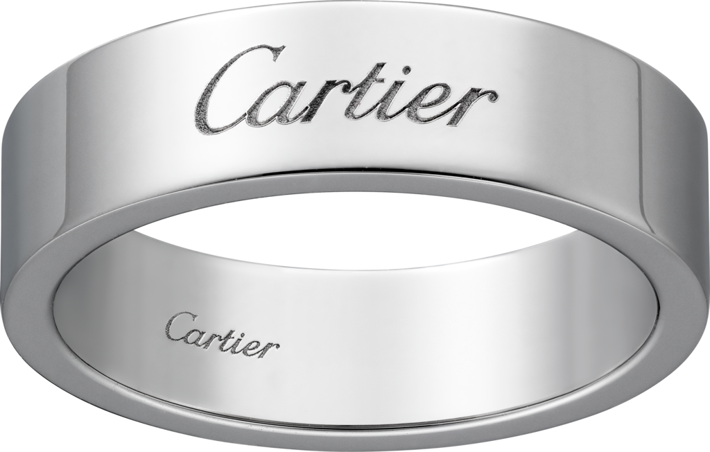 C de Cartier wedding bandPlatinum