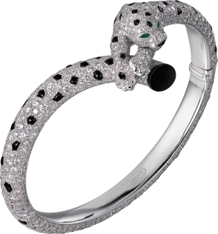 Panthère de Cartier bracelet White gold, emeralds, onyx, diamonds