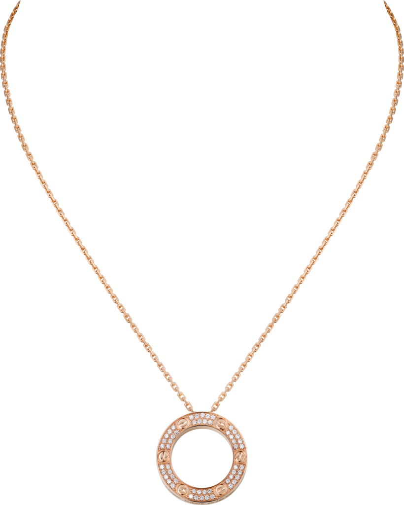 Love necklacePink gold, diamonds