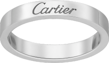 C de Cartier wedding band Platinum