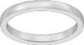 Ballerine wedding band Platinum