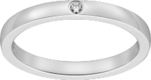 Ballerine wedding band Platinum, diamond