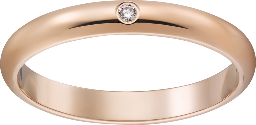 1895 wedding bandPink gold, diamond