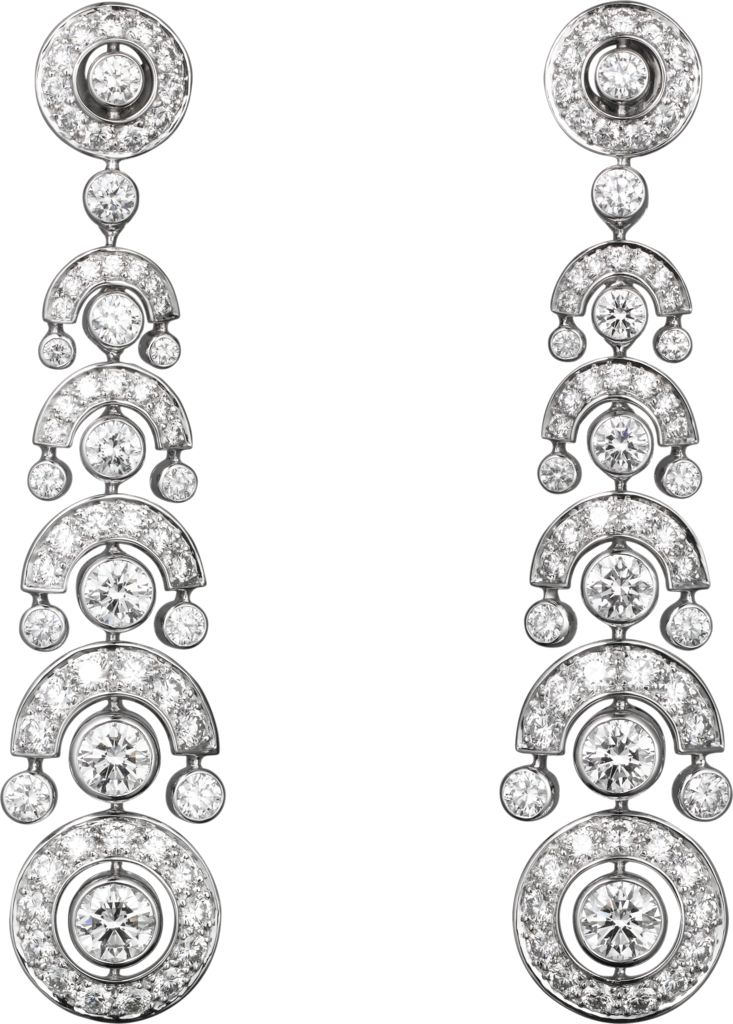 Faune et Flore de Cartier earringsWhite gold, diamonds