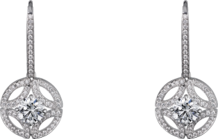 Galanterie de Cartier earrings White gold, diamonds